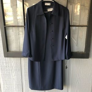Kasper ASL 2-Piece Navy Blazer/Dress